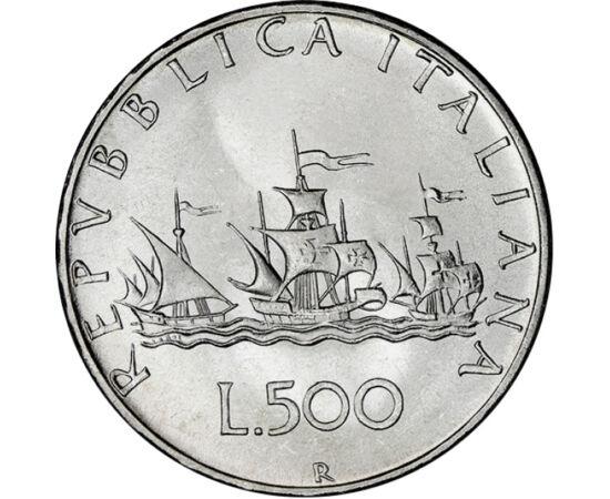 Hajók, melyek lehajóztak a térképről, 500 líra, ezüst, Olaszország, 1958-2001