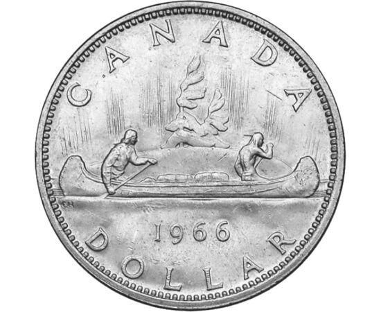 Klasszikus ezüst a tengerentúlról, 1 dollár, ezüst, Kanada, 1953-1966