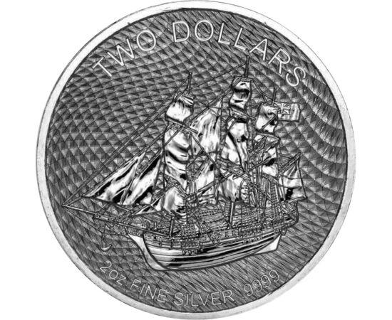 Lázadás a Bountyn, 2 dollár, ezüst, Cook-szigetek, 2020