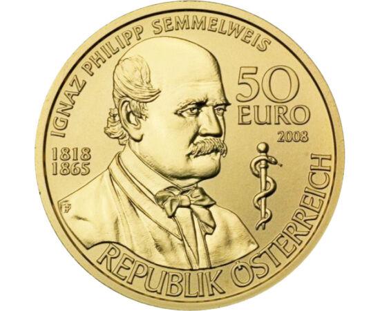 50 euró, Semmelweis, arany, 2008, Ausztria
