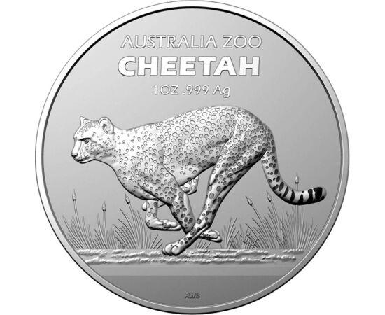1 dollár, Vágtázó gepárd a szavannán, Cheetah, Ag 999, 31,1 g, Ausztrália, 2021