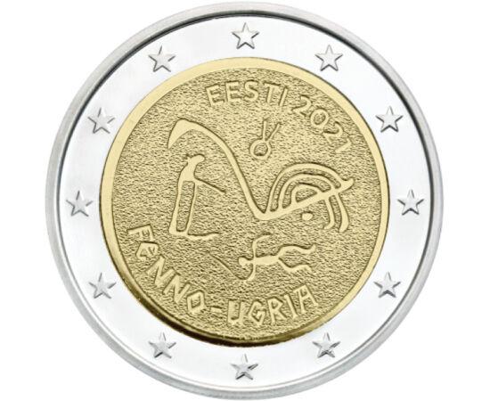 2 euró, Barlangrajz, , CuNi, 8,52 g, Észtország, 2021