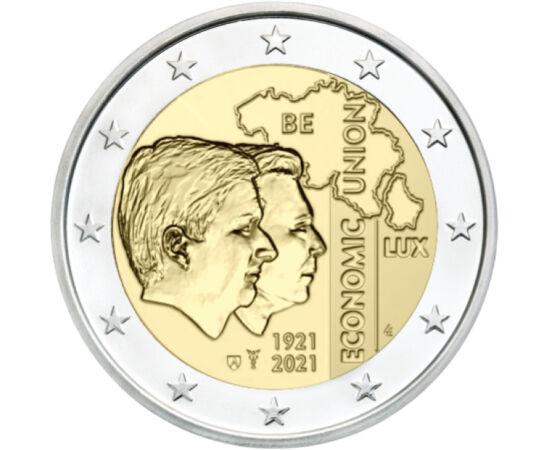 2 euró, Térkép, Henrik nagyherceg, Fülöp király, CuNi, 8,52 g, Belgium, 2021