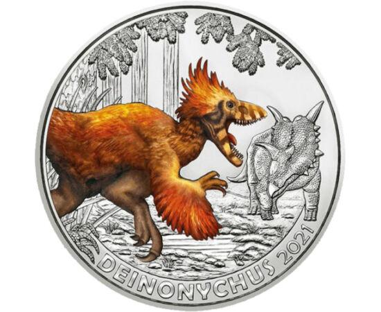 3 euró, Festett dinoszaurusz, , CuNi, 20 g, Ausztria, 2021