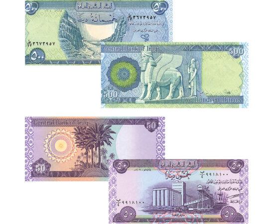 50, 250, 500, 1000 dinár, , 0, 0, Irak, 2003-2013