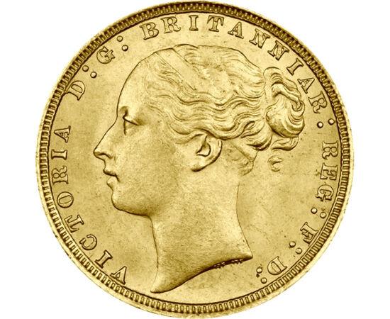 1 sov,Viktoria fiatal.port,1871-1885, Nagy-Britannia