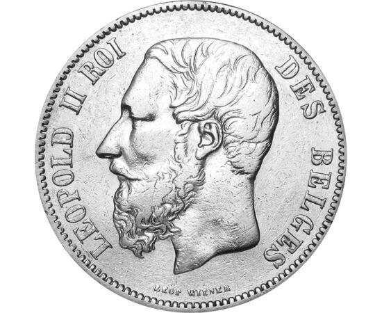 5 frank, II. Lipót, 1865-1876, Belgium