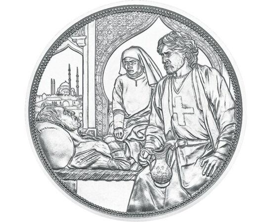 10 euró, Beteget ápoló nővér és lovag, Ag 925, 16,82 g, Ausztria, 2021