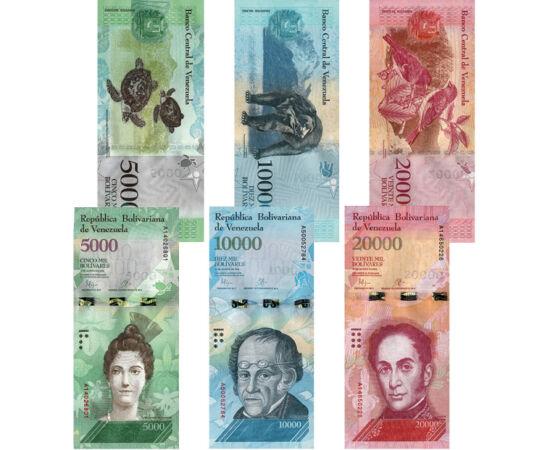 500, 1000, 2000, 5000, 10000, 20000 bolivar, , 0, 0, Venezuela, 2016-2017