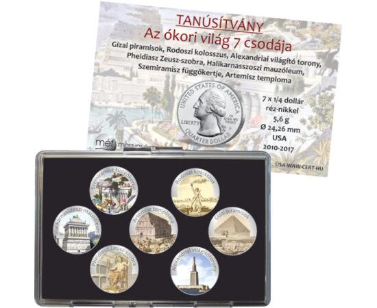 7x25 cent, Ókori világ 7 csodája, CuNi, 5,6 g, USA, 2010-2017, USA