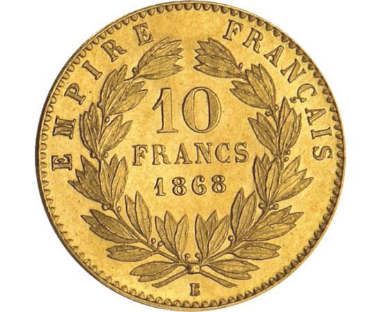 10 fr, III.Napóleon,arany,1861-1869, Franciaország