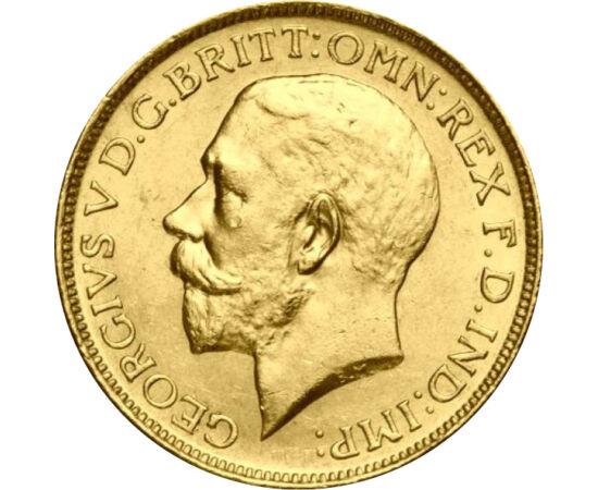 1/2 sov. V.György 1911-1926, arany, Nagy-Britannia
