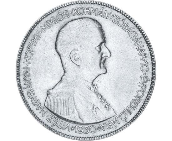 5 pengő, Horthy, 1930, ezüst, Magyar Királyság