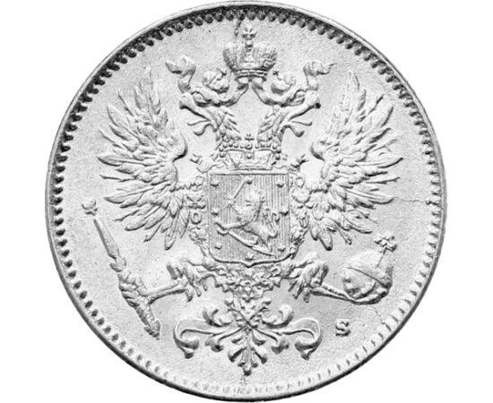 50 pennia, II. Miklós, Ag,1907-1917, Finnország