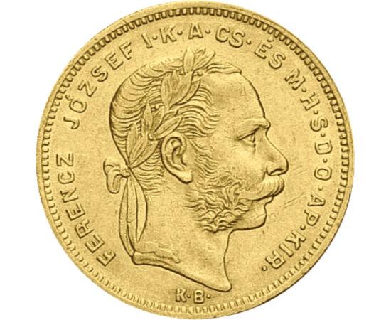 8 forint, arany, Ferenc J.,1870-1890, Osztrák-Magyar Monarchia