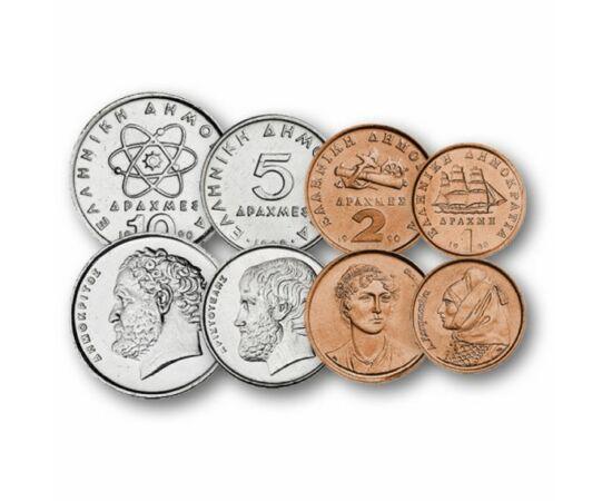 1, 2, 5, 10, 20, 50, 100 drachma, , 0, 0, Görögország, 1982-2000