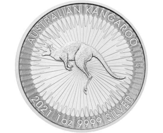 1 dollár, Kenguru, súly, finomság, , Ag 9999, 31,1 g, Ausztrália, 2021