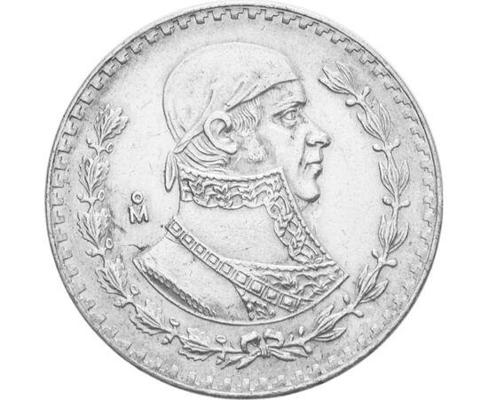 1 peso, , Ag 100, 16 g, Mexikó, 1957-1967
