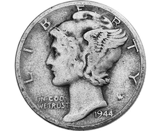 10 cent, Liberty nőalak, , Ag 900, 2,5 g, USA, 1939-1945