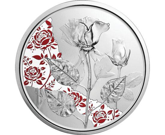 10 euró, Rózsa ábrázolás, Ag 925, 15,55 g, Ausztria, 2021