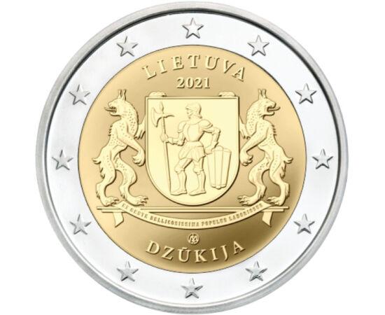 2 euró, Dzukija Nemzeti Park címere, CuNi, 8,52 g, Litvánia, 2021