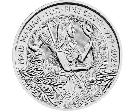 2 font, Mariann, , színsúly, Ag 999, 31,1 g, Nagy-Britannia, 2022