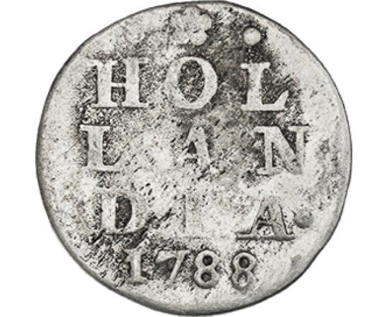 2 stuiver, , Ag 583, 1,62 g, Hollandia, 1701-1793