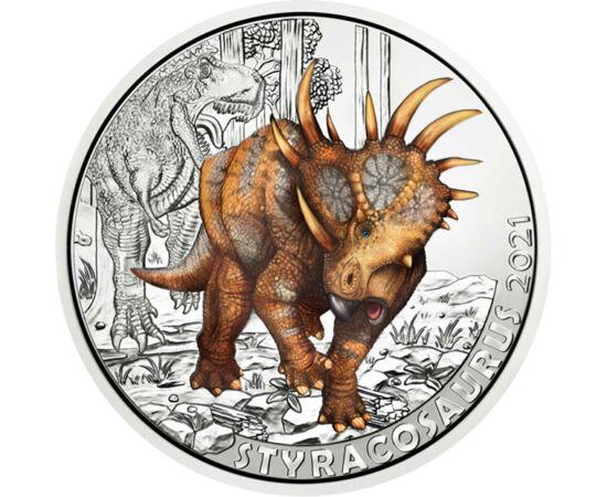 3 euró, Styracosaurus, CuNi, 16 g, Ausztria, 2021