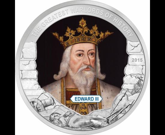 // 1 dollár, Palau, 2015 // - III. Eduárd, Anglia királya a Plantagenet-házból, aki katonai sikereiről és politikai reformjairól ismert. IV. Fülöp francia király unokája volt, az angol történelem legjobb hadvezére. Anyja jogán igényt tartott a francia tró