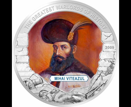 // 5 dollár, Libéria, 2009 // - Vitéz Mihály híres Havasalföldi fejedelem és hadvezér volt. Csatlakozott a Szent Ligához, melynek célja a törökök kiűzése volt Európából.