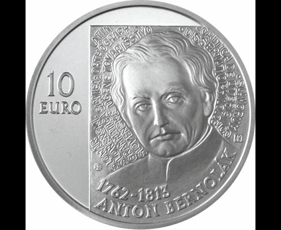 10 euró, Anton Bernolák, ez, bu,2012 Szlovákia