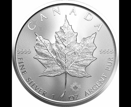 1 unciás ezüst juharlevél, 5 dollár, ezüst, Kanada, 2016-2020