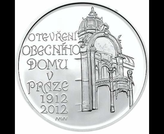 // 200 korona, Csehország, 2012 // - A prágai Reprezentációs ház a cseh főváros híres szecessziós műemléke, jelenleg nagyszabású kultúrház és szórakoztató központ. Az ezüst emlékpénz megnyitásának 100. évfordulójára került kibocsátásra.