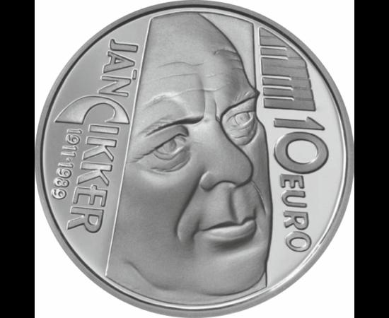 // 10 euró, Szlovákia, 2011 // - A Nemzet Művésze, Ján Cikker a modern szlovák klasszikus zene egyik vezető alakja volt. Első művei szinte mindig hangszeres művek voltak, később egyre inkább operák komponálásának szentelte idejét. Kamara- és zenekari dara