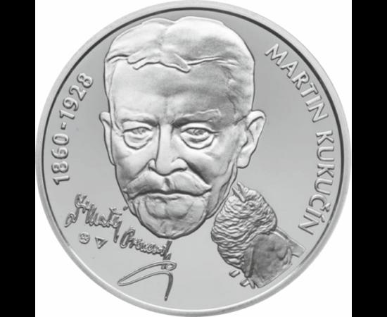 // 10 euró, Szlovákia, 2010 // - Martin Kukučína szlovákiai dráma- és prózaíró jeles képviselője, a realista irodalom kimagasló alakja, publicista, a szlovákiai próza egyik megalkotója volt. Főbb témája a nemzeti elnyomás volt, kritikusan szemlélte a társ