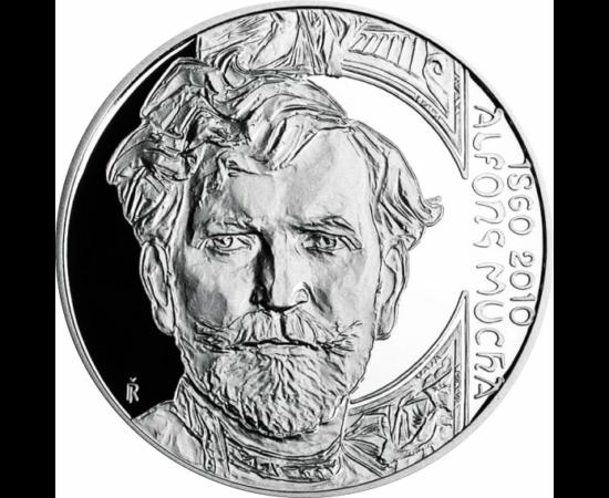 200 korona, A. Mucha, ezüst, 2010pp Cseh Köztársaság
