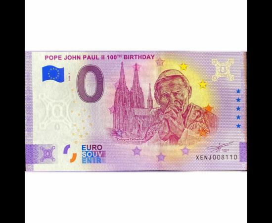 II. János Pál pápa emlékére különleges szuvenír-bankjegy jelent meg, mivel a világegyház az elmúlt napokban, a pápa születésének 100. évfordulójára és halálának 15. évfordulójára emlékezett. II. János Pál, a világ egyik legnépszerűbb pápája, kétszer járt