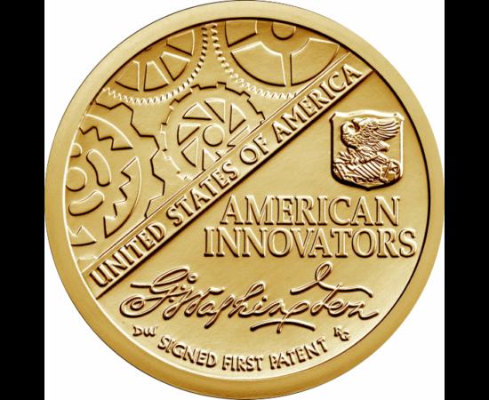 """// 1 dollár, USA, 2018 // - Az USA a nagyon sikeres és népszerű elnöki dollárok program után 2018-ban új érmeprogramot indított """"Amerikai újítók"""" címmel, egy dolláros érméken. 2032-ig évente négy érmét bocsátanak ki a programban. Minden állam és hat speci"""