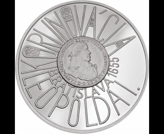 // 200 korona, Szlovákia, 2005 // - I. Lipótot 1655-ben, Pozsonyban koronázták magyar királlyá. Uralkodása történelmünk egyik fényes-gyászos kora. Az uralkodóval szembeni ellenállás a Rákóczi szabadságharc kirobbanásához vezetett. A koronázás 350 éves évf
