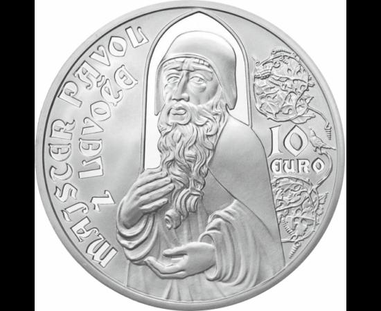 // 10 euró, Szlovákia, 2012 // - Lőcsei Pál mester fafaragó, szobrász volt, a későgótika egyik legnagyobb mestere. Az ő nevéhez fűződik a lőcsei Szent Jakab templom faoltárának az elkészítése, mely a legmagasabb faoltár a világon
