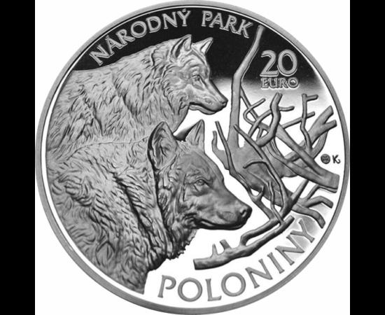 Európai őserdő három ország határán, 20 euró, 925-ös ezüst, 2010, Szlovákia