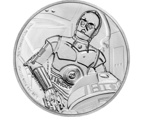 C-3PO - és társa R2D2  -Star Wars témájú numizmatikai kibocsátás. Exkluzív díszdobozban.
