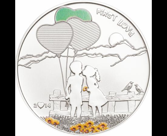 Az első szerelem - festhető érme, 5 dollár, ezüst, 2014, Cook-szigetek