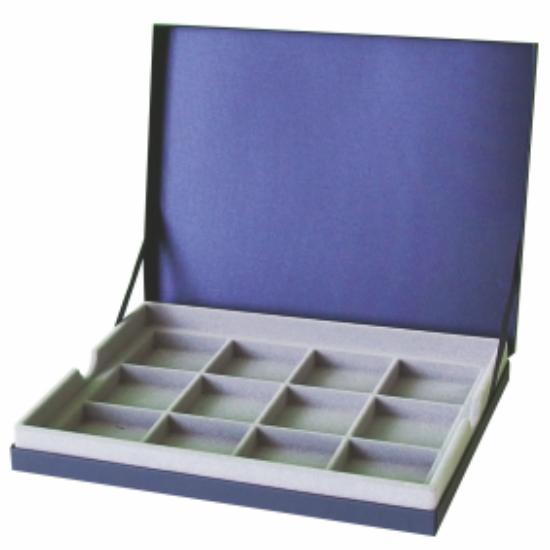 IPRACTIC Tárolókazetta12 rekeszes doboz, kék