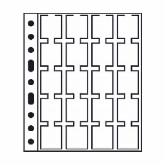 GRANDE album lapok20 érmekarton, 50x50 mm