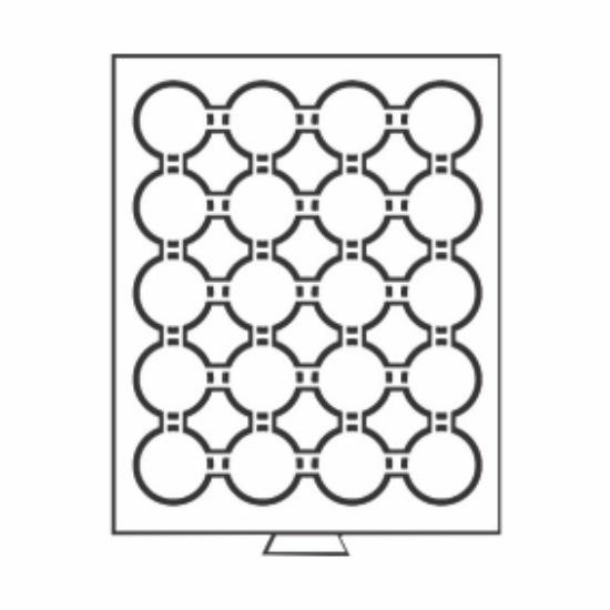 Érmetároló tálcák20 x Ø 41 mm - befektető érméknek