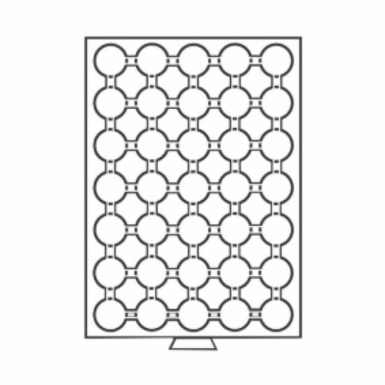 Érmetároló tálcák35 x Ø 26 mm – 2 euró