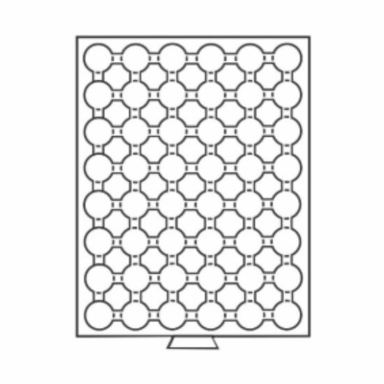 Érmetároló tálcák48 x Ø 21,5 mm – 5, 10 euró cent