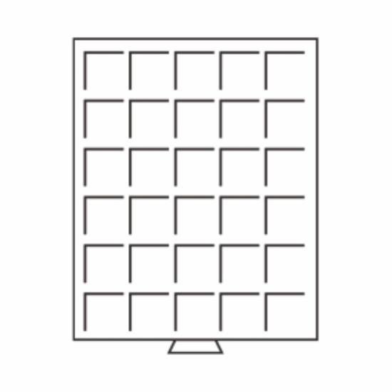 Érmetároló tálcák(30 x Ø 33 mm10 €, 10 Mk, 1 rubel, US ½ $)