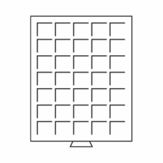 Érmetároló tálcák(35 x Ø 27 mm2 €)